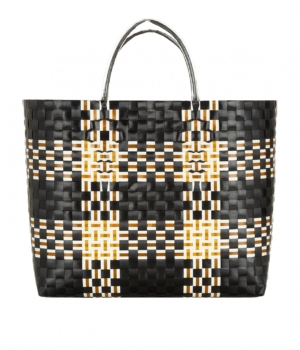Black_Tan_White_Woven_Bag