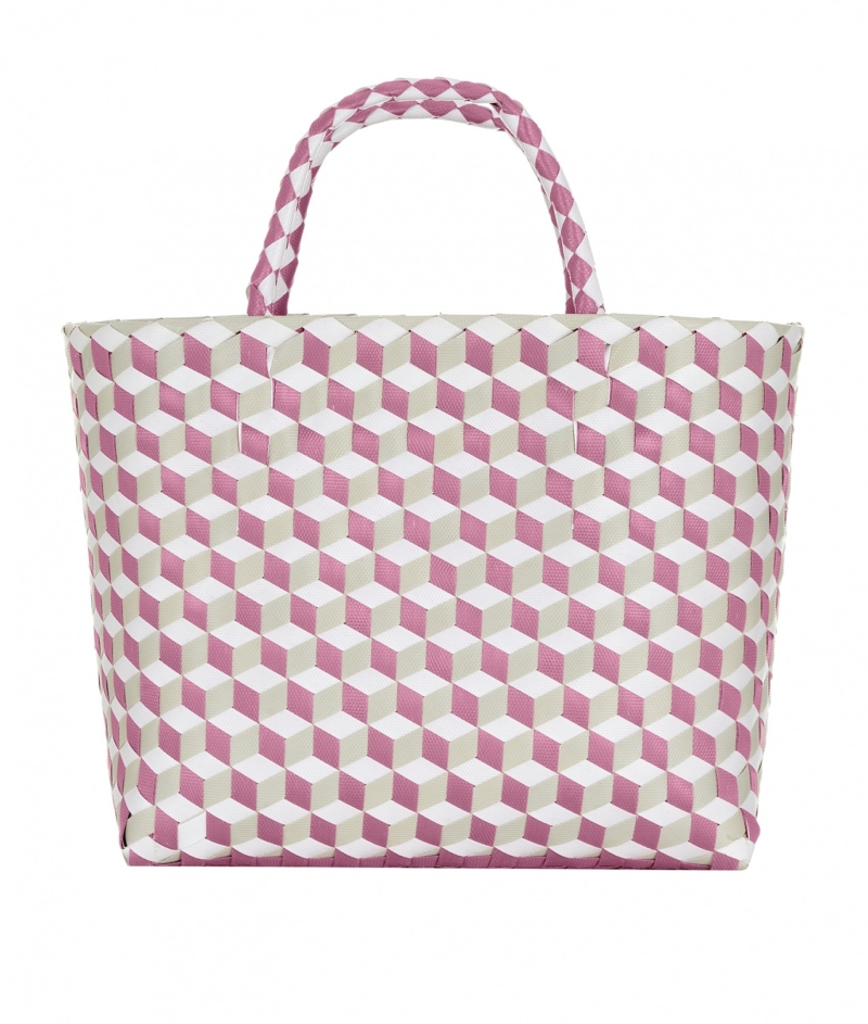 Pink_Grey_White_Woven_Bag