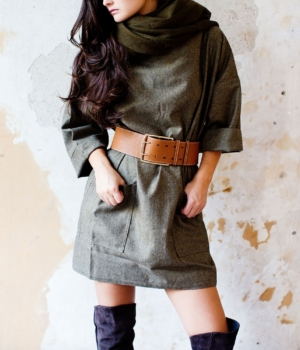 Light Pure Wool Smock Dress